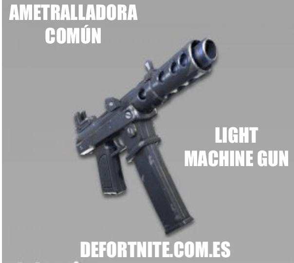 Ametralladora común