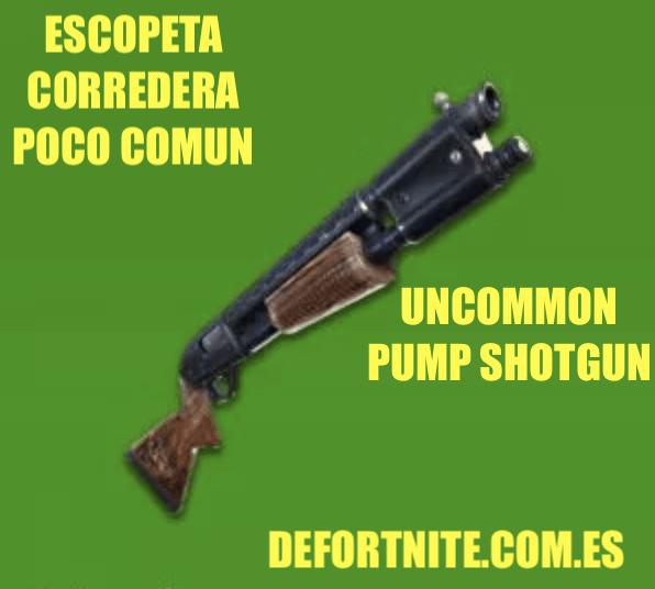 Escopeta corredera poco común