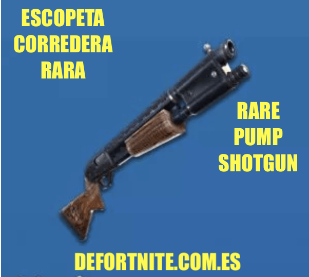 Escopeta corredera rara