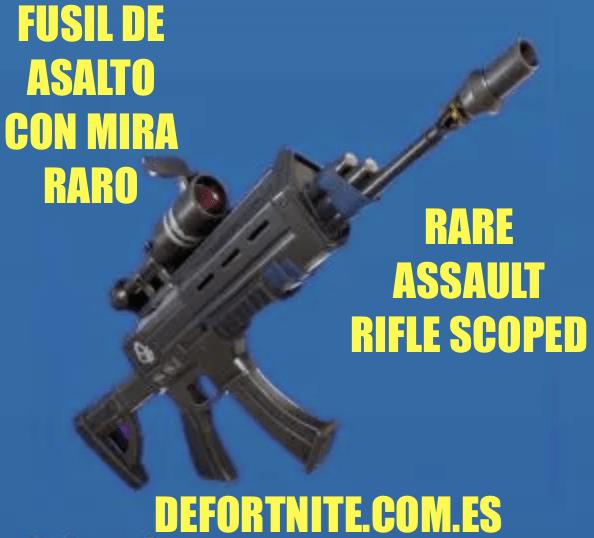 Fusil de asalto con mira raro