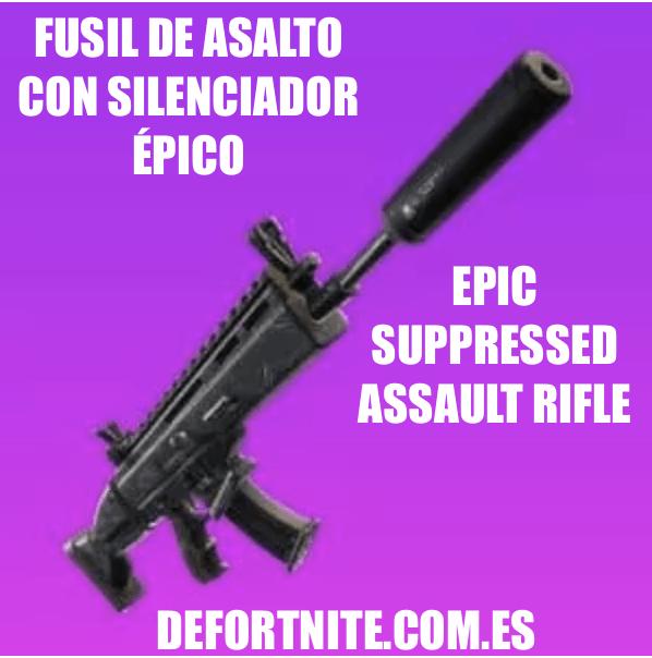 Fusil de asalto con silenciador epico