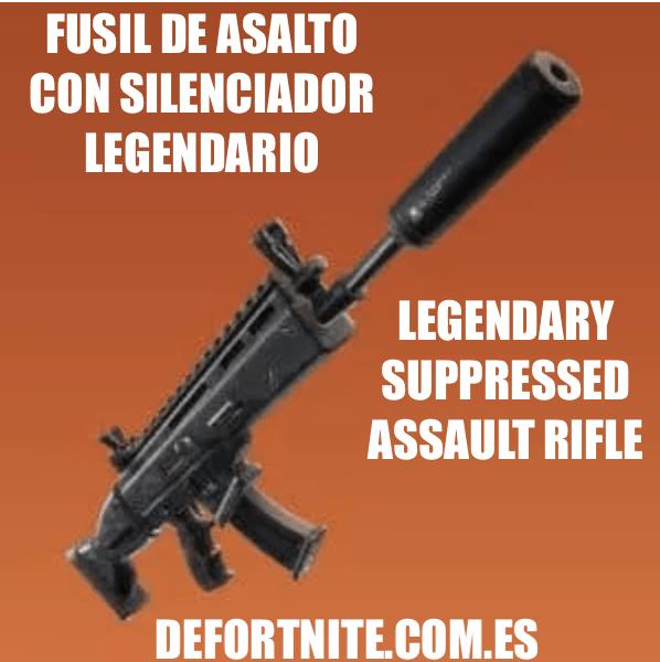Fusil de asalto con silenciador legendario
