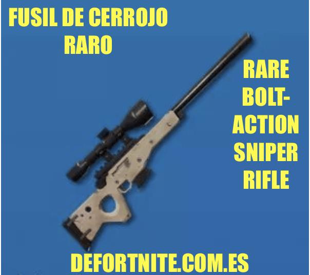 Fusil de cerrojo raro