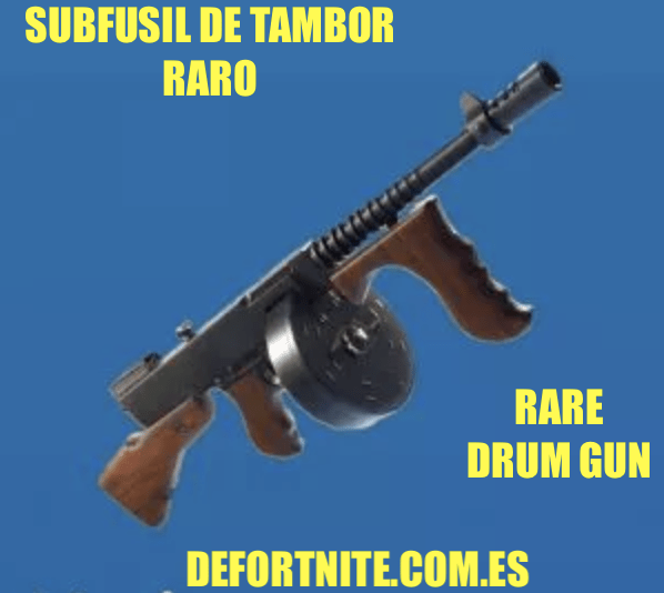 Subfusil de tambor raro