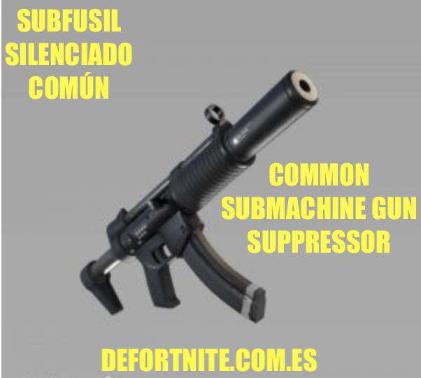 Subfusil silenciado común