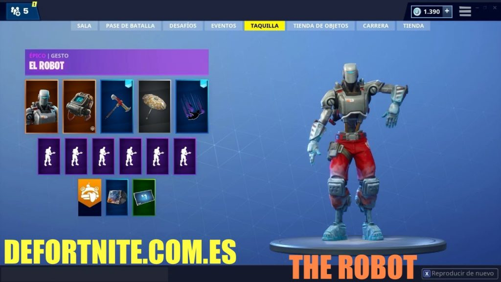 bailes de Fortnite the robot