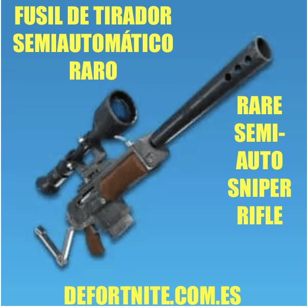 fusil de tirador semiautomatico raro