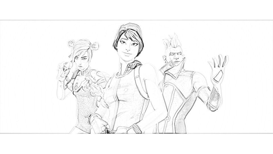 Dibujos de Fortnite Para Colorear 5