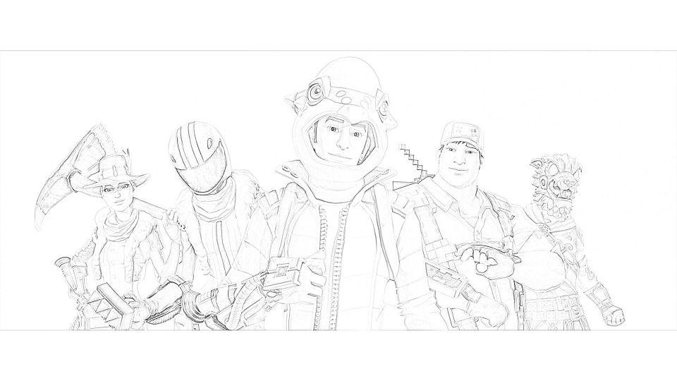 Dibujos de Fortnite Para Imprimir. 3