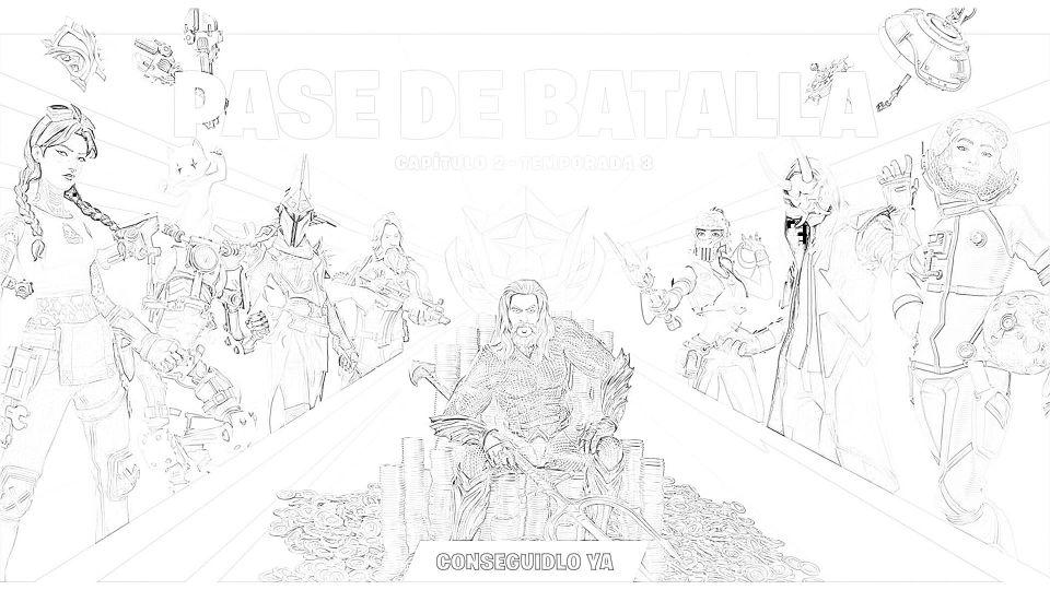 Dibujos de Fortnite Para Imprimir. 4