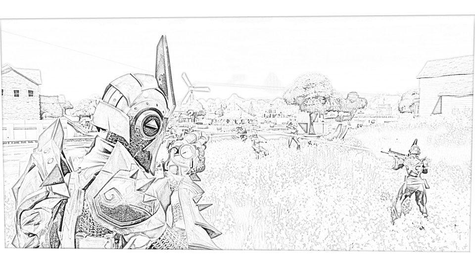 Dibujos de Fortnite Para Imprimir. 9