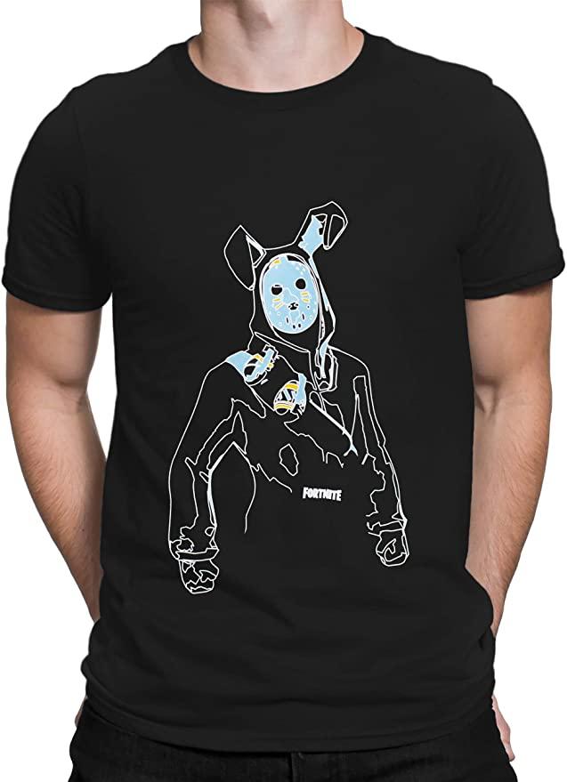 Fortnite-Camiseta-Hombre-Negro-Talla