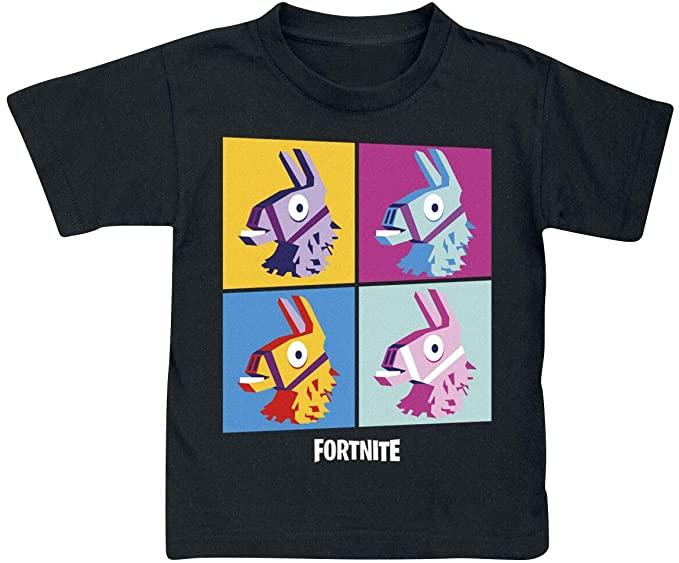 Fortnite-Camiseta-Niños-Black-Print-Camisetas-de-Fortnite